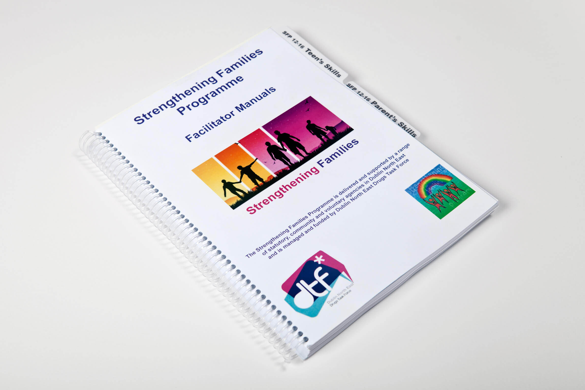 spiral bound printed booklet