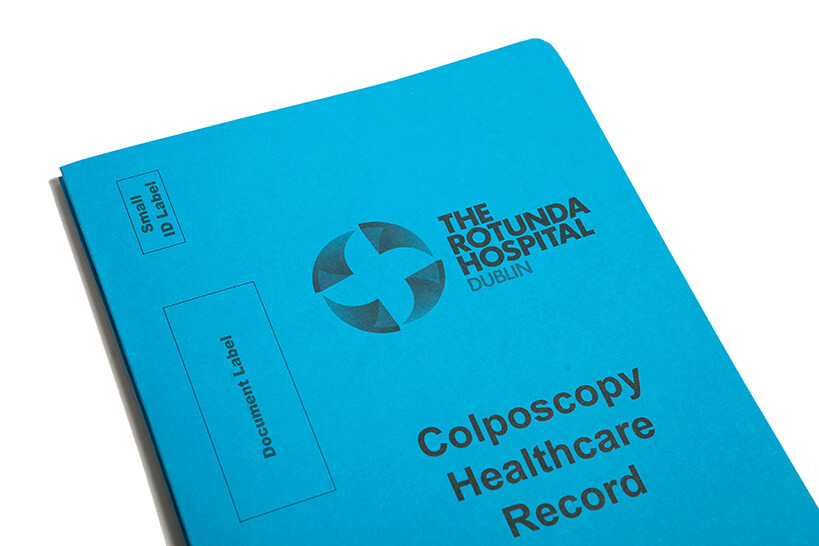 Hospital printed file cover