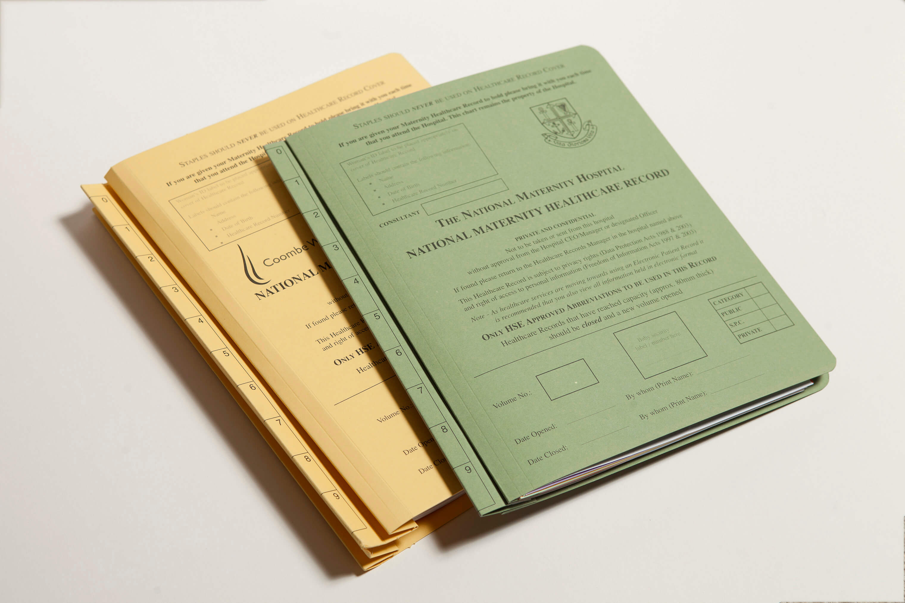 printed medical file covers
